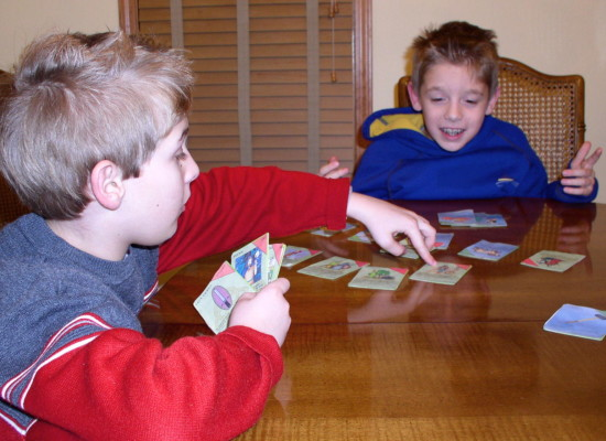 Kids Playing Top Trumps
