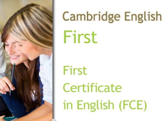 Cambridge First Certificate in English (FCE/B2)