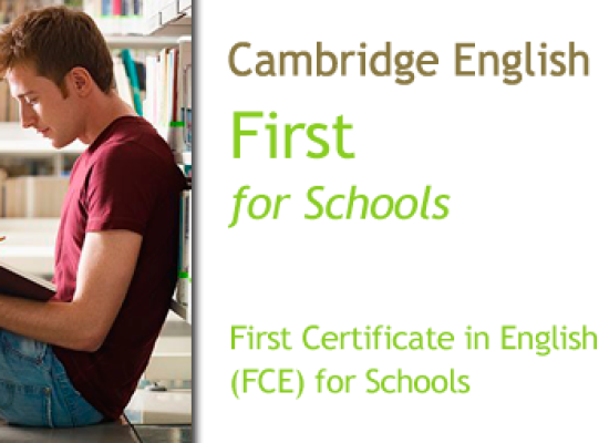 Cambridge First Certificate in English for Schools (FCEfs/B2)
