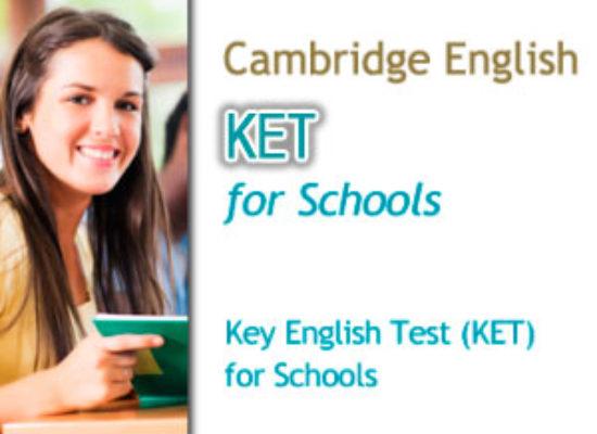 Convocatorias Cambridge KET for Schools (Nivel A2)