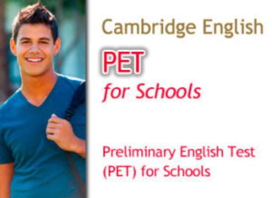 Convocatorias Cambridge PET for Schools (Nivel B1)