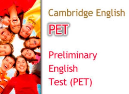 Convocatorias Cambridge PET (Nivel B1)