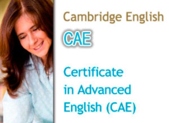 Convocatorias Cambridge CAE (Nivel C1)