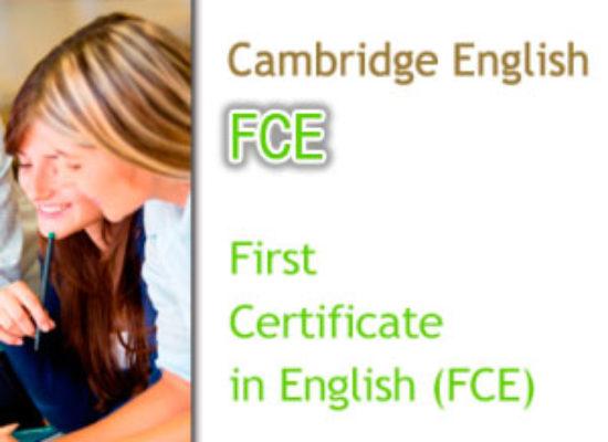 Convocatorias Cambridge FCE (Nivel B2)