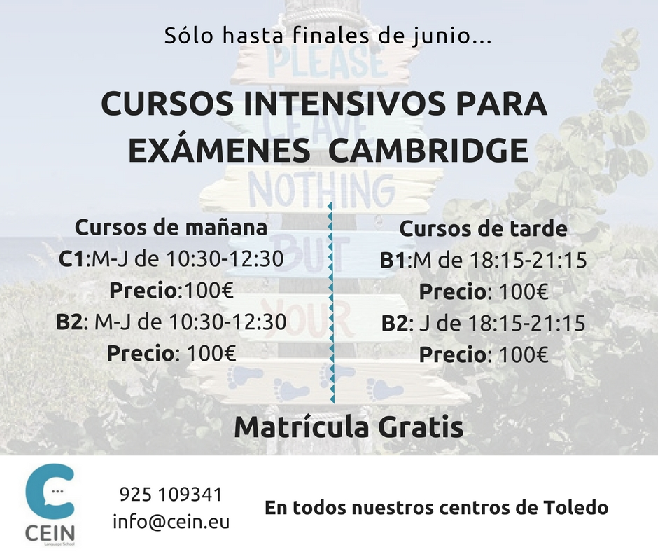cursos intensivos examenes cambridge