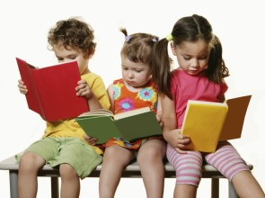 Kid reading books